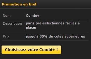 promotion Combi+ sur Bwin