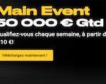 Jusqu'à 50 000€ hebdomadaire à gagner sur Bwin Poker