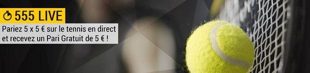 Remportez 5€ par jour en pariant en live sur le tennis avec Bwin