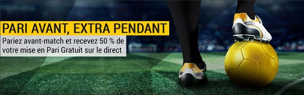 Promo Pari Avant, Extra Pendant sur Bwin Sport