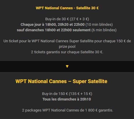 Remportez votre package pour le WPT Cannes avec Bwin Poker