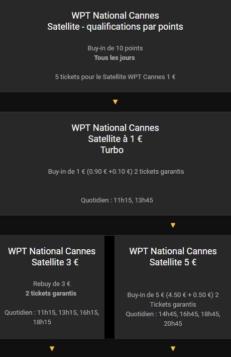 Qualifiez vous pour le Satellite WPT Cannes avec Bwin Poker