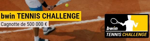 500.000€ mis en jeu avec le Bwin Challenge tennis du 14/05 au 10/09