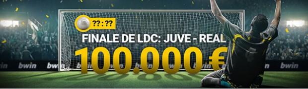 100.000€ sont mis en jeu par Bwin pour la finale de la Ligue des Champions