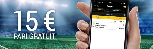 15€ offerts sur Bwin sur les matchs des clubs français en Coupe d'Europe