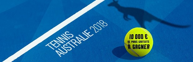 10.000€ mis en jeu sur l'Open d'Australie 2018 par Bwin.fr
