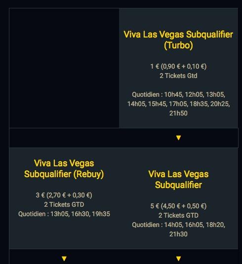 """Composition du circuit qualifier de l'offre """"Viva Las Vegas"""" de Bwin Poker"""