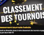 Classement des tournois sur Bwin Poker