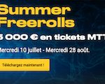 Challenge freerolls sur Bwin poker du 10/07 au 28/08/2019